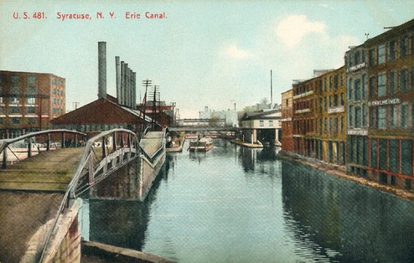 Erie Canal in Syracuse, approximately 1910.