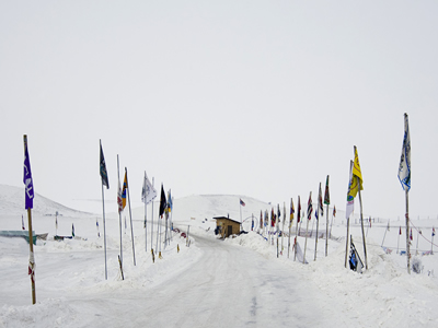 Entrance to Standing Rock camp