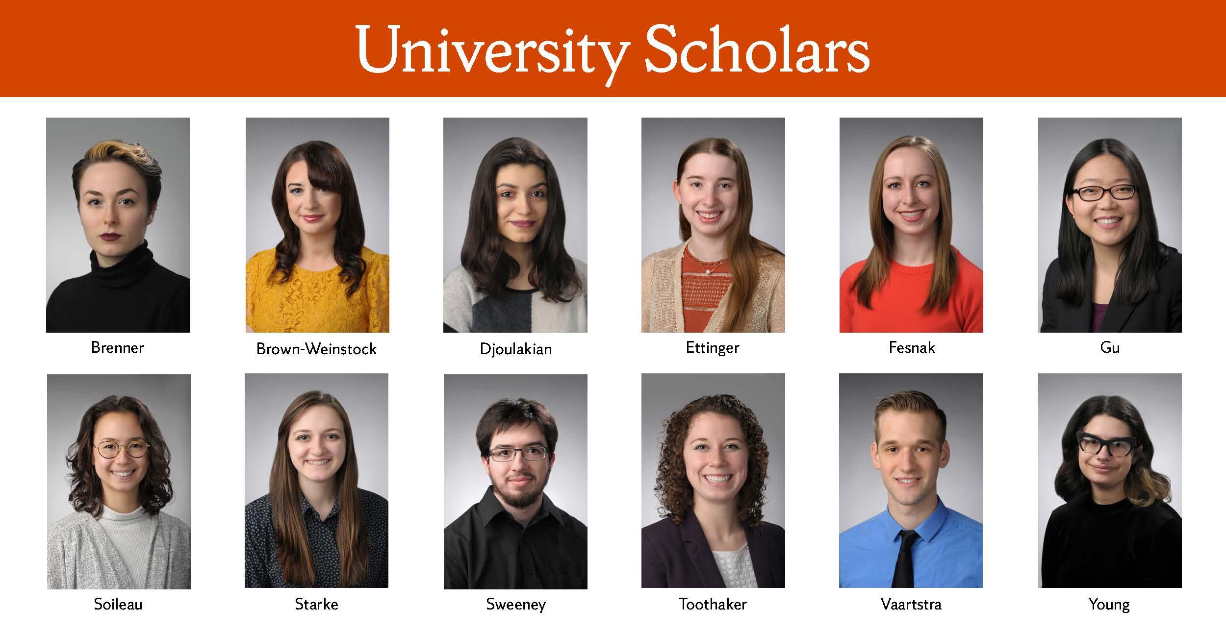 University Scholars photos