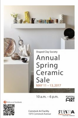 Annual Spring Ceramic Sale poster