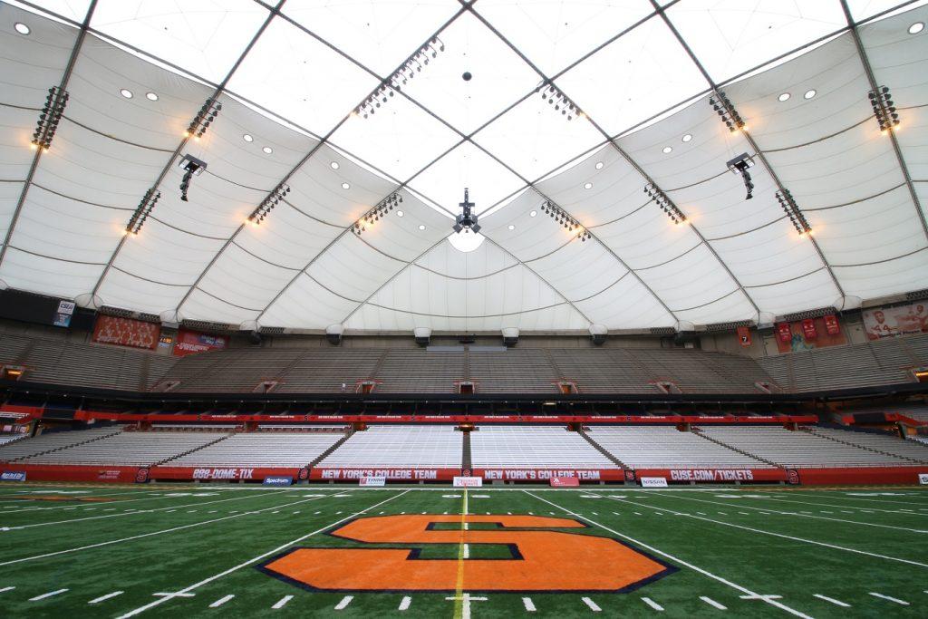 inside stadium