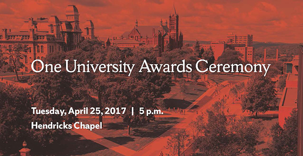 One University Awards graphic