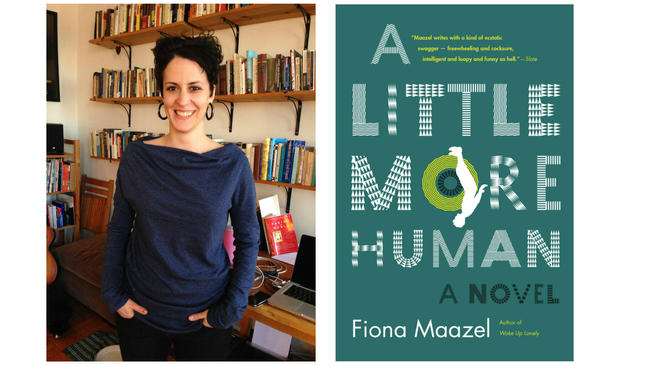 Fiona Maazel and cover of her new book