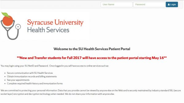 Patient Portal Screenshot