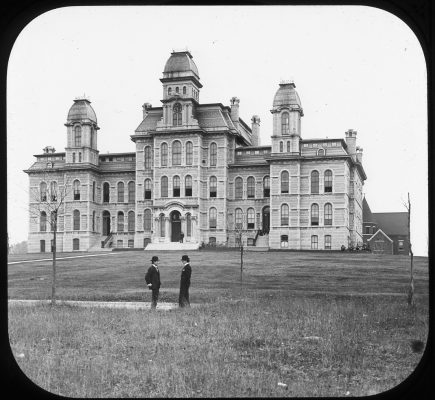 old photo of Hall of Languages