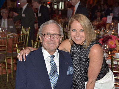 Tom Brokaw and Katie Couric