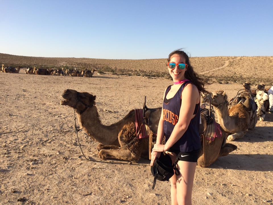 Chelsea Siegal '20 visited the Negev Desert in Israelon a Birthright trip with Hillel at Syracuse University.