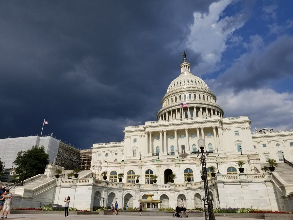 Sara Adams L '19 snapped this photo of a storm rolling in over the U.S. Capitol, while in Washington, DC with the Law School's Washington Externship Program.