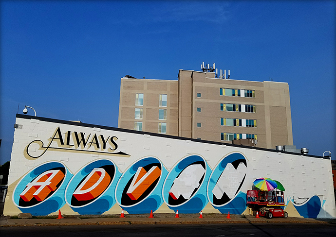 Always Advance mural