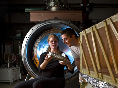 Mitch Soderberg, right (Photo courtesy of Fermilab)