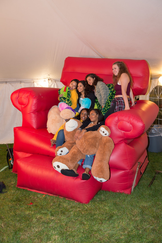 people in foam chair