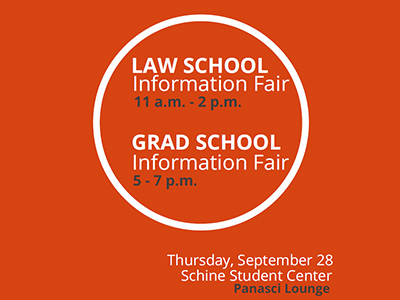 Law & grad school fair poster