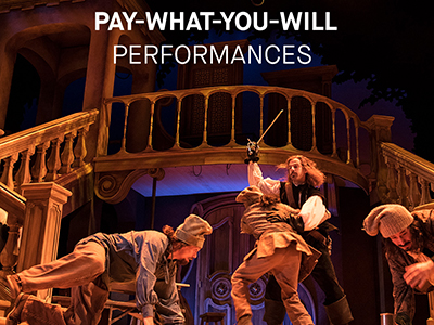 Pay What You Will Performances banner