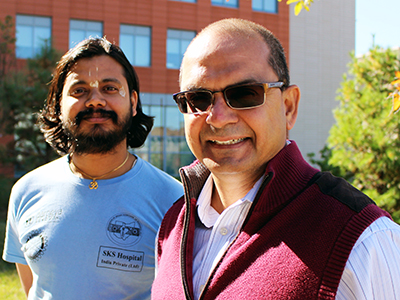 Dayaprasad Kulkarni, left, and Professor Chilukuri Mohan