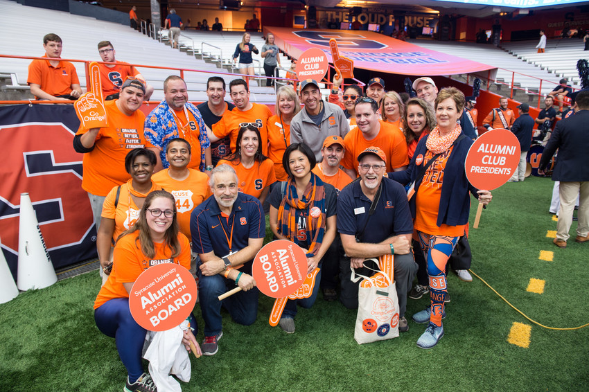 Orange Central Reunion Homecoming 2017 Syracuse vs. Pittsburgh Football Game Alumni Cheering At Game