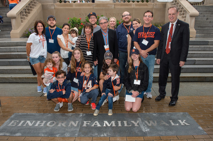 Orange Central Reunion Homecoming 2017 Einhorn Family Walk Dedication
