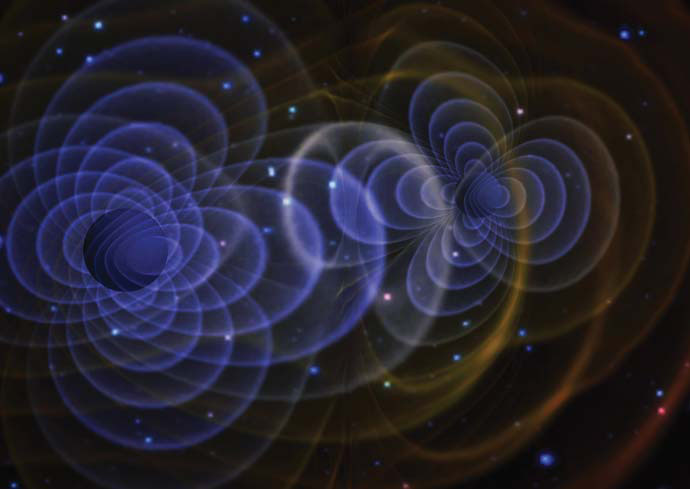 An artist's rendition of a gravitational wave