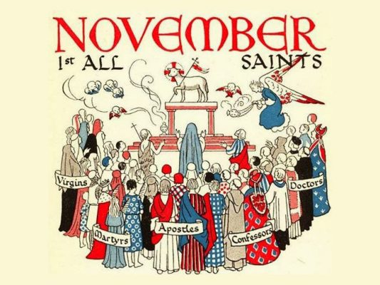 November 1, All Saints Day