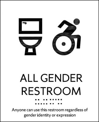 All-gender restroom sign
