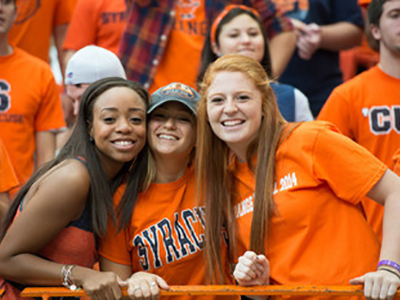 students in orange