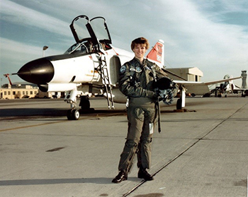 Eileen Collins as a pilot