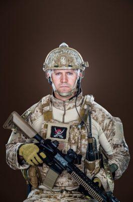 Rorke Denver in battle gear