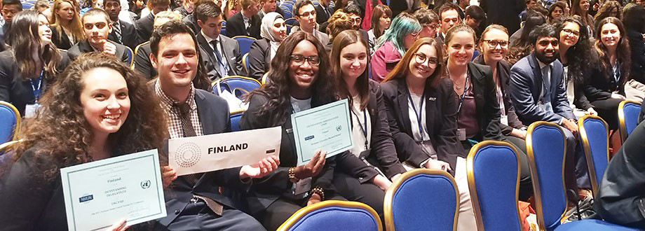 Maxwell School Model UN team