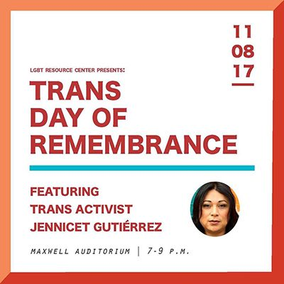 Trans Day of Remembrance poster