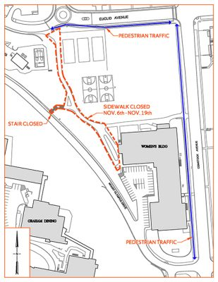 map of route around Women's Building
