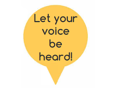 Let your voice be heard!