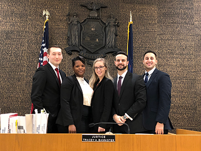 Buffalo moot court team