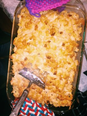 macaroni and cheese dish