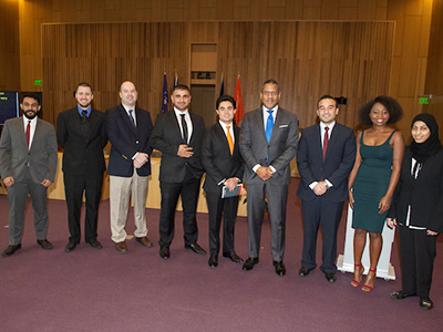 LLM graduates at their Commencement ceremony on Dec. 1