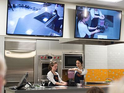 Falk College demo kitchen