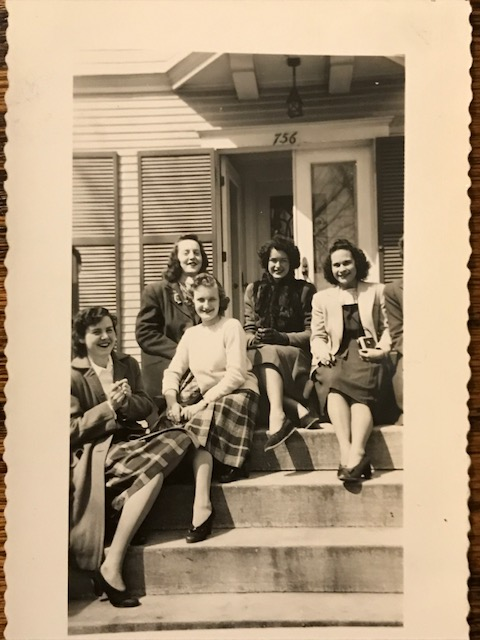 Thelma Bonzek with sorority sisters