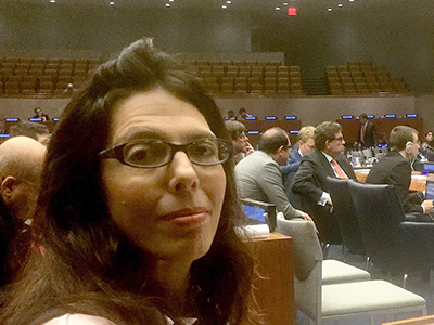 Corri Zoli at the UN Counterterrorism meeting in New York City