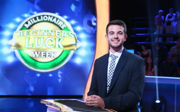 Jesse Scheinbart appears on the set of Who Wants to be a Millionaire?