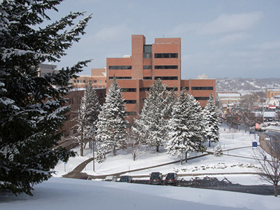 Photo: Winter view of Crouse-Hinds Hall