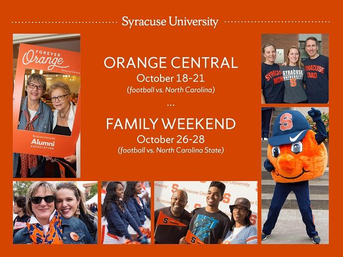 Syracuse Calendar.Mark Your Calendar For Orange Central Oct 18 21 And Family