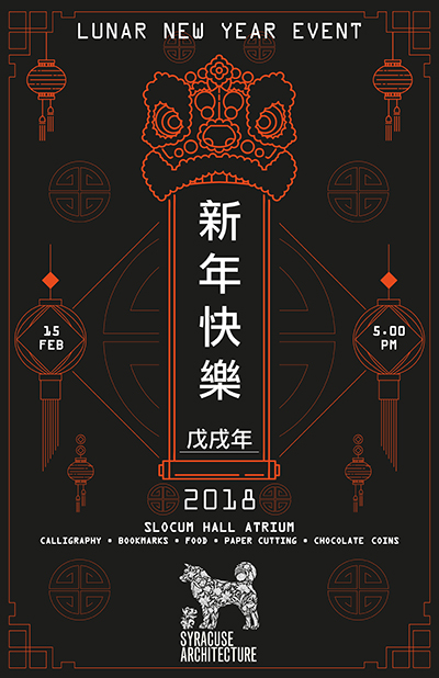School of Architecture poster advertising Lunar New Year celebration