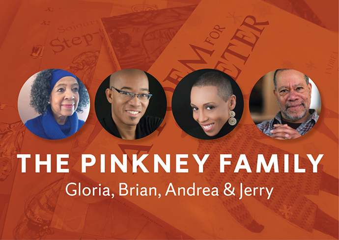 The Pinkney Family authors, on background of some of their books