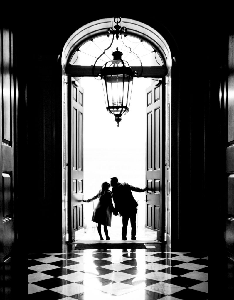 couple in doorway of Hendricks Chapel