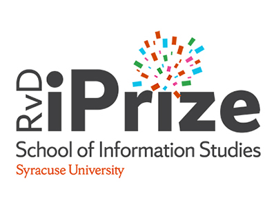 "iPrize logo with ""School of Information Studies, Syracuse University"""