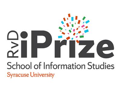 "iPrize logo with ""School of Information Studies, Syracuse University"""