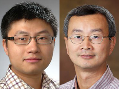 "Yuzhe ""Richard"" Tang, left, and Wenliang ""Kevin"" Du"