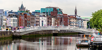 view of bridge in Dublin