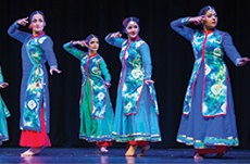 women dancing on stage