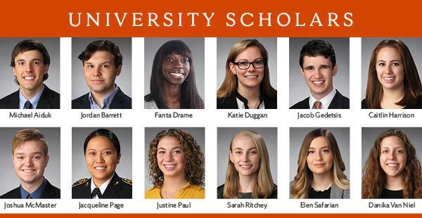 2018 University Scholars