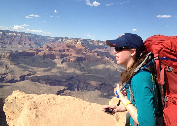 woman looking out over Grand Canyon