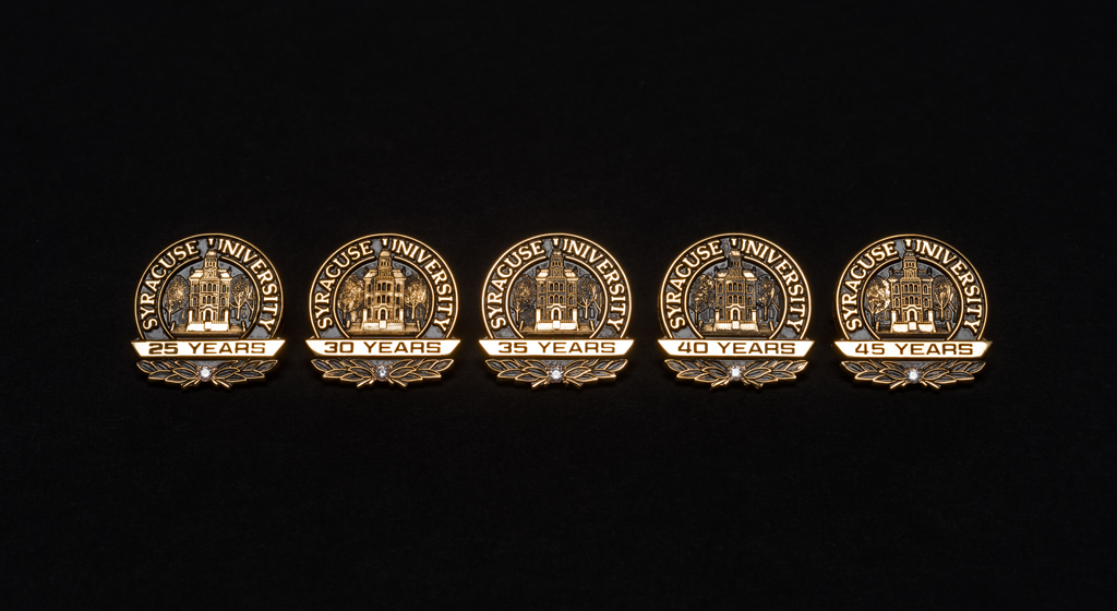 Selection of commemorative anniversary pins